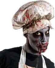 Zombie Butcher Hat Bloody Chef Fancy Dress Up Halloween Adult Costume Accessory