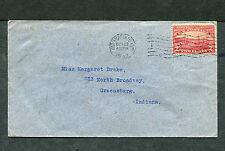 Postal History - Indianapolis IN 1909 Black Machine Cancel Cover #372 B0474