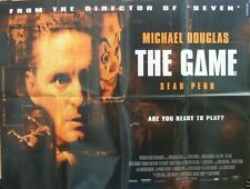 Michael Douglas   Sean Penn THE GAME(1997) Original UK quad movie poster