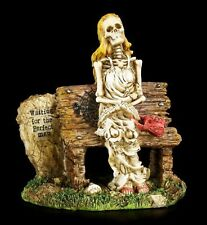 New Waiting For The Perfect Man Skeleton Skull Figurine Love Never Dies Free S&H