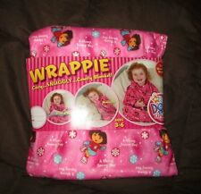 Wrappie Girls Snuggly Pink Dora the Explorer Wrap Robe Blanket One Size 3-6 New