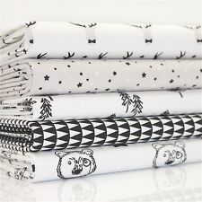 lot de coupons fat quarter Noir Et Blanc Chic Amusant x 5