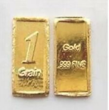 24k FINE Gold .999 Fine Pure Gold 1 Grain Bar Stamped Free Shipping!!