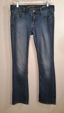 GIRLS juniors ARIZONA blue JEANS SIZE 5 DESTROYED boot cut cotton blend 29x31