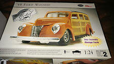 1940 Ford Woody - Testors Metal 1/24th Open Bagged Complete