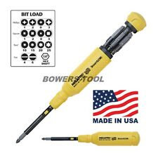 Megapro Shaft Lok 15 in 1 Multi Bit Screwdriver Phillips Flat Torx Square USA