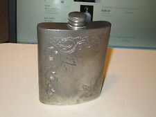 HOFFRITZ ENGLISH PEWTER FLASK - 6 OUNCES - MADE IN SHEFFIELD - ENGLAND