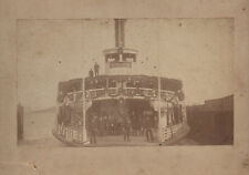 1880s Card Mounted Photo of the Ferryboat Bay City San Francisco Bay