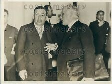 1933 Italy Politicians Alberto Beneduce & Guido Jung Press Photo