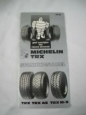 michelin TRX AS DUTCH bibendum,european car vehicle  tire pressure guide folder
