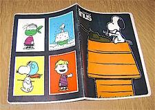 LINUS Peanuts Schulz - Snoopy 70s Cisa Italy notebook school - quaderno scuola