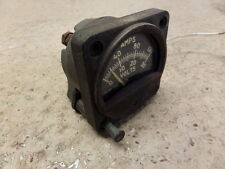 "VINTAGE AVIATION AMMETER VOLTMETER PUSH F/ VOLTS 2.25"" BEECHCRAFT/TWIN COMMANDER"