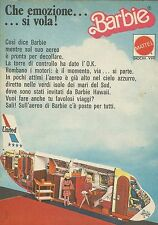 X9082 Barbie Hawaii - Che emozione... si vola! - Pubblicità 1976 - Advertising