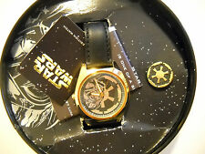 1997 STAR WARS (DARTH VADER) FOSSIL *GOLD* WATCH #258/1000 *BRAND NEW*