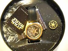 1997 STAR WARS (DARTH VADER) FOSSIL *GOLD* WATCH #258/1000 *BRAND NEW*