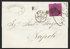 Vatican covers 1870 20c franked folded cover Roma to Napoli