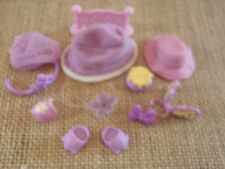 Littlest Pet Shop Purple Accessories Hat Crown Bow Duck Slippers Flower W46