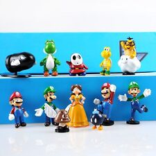 12PCS Super Mario Bros Action Figure PVC Doll Toy Collectables NEW