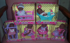 "NEW 6 Berenguer Dolls Ethnic AA Lots To Love Babies 5"" Mini Nursery PlaySets HTF"