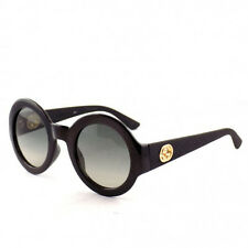 Authentic GUCCI Sunglasses GG 3788 Black Gray Gold GG Round Vintage Rubber