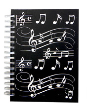 A6 Musical Notes Notebook - Music Themed Gifts - Musical Notebook & Stationery