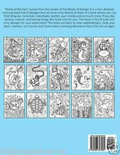 Roots of the Sea Adult Colouring Book Fun Detail Ocean Creatures Mermaid 1 sided