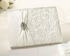 Wedding Guest Book, Vintage-Style Lace Cover, by Lillian Rose