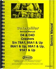 Caterpillar D4 D4D Crawler Service Manual (CT-S-D4 (78A1))