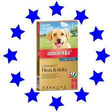 6 Pack Advantix for Extra Large Dogs Over 25kg  Fleas Ticks Biting Insects