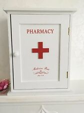 Pharmacy Wooden Wall Cabinet Retro Vintage Shelves Storage Bathroom Cupboard