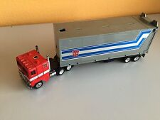 Transformers G1 1984 OPTIMUS PRIME cab & trailer made in France hasbro takara