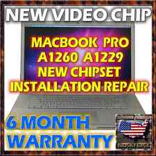 MACBOOK PRO A1260 A1229 LOGIC BOARD LAPTOP NEW NVIDIA VIDEO CHIP INSTALLATION
