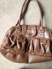 BNNT LADIES GENUINE LEATHER HANDBAG TOMMY & KATE BROWN SHOULDER BAG MEDIUM SIZE