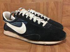 RARE�� Nike Pre Montreal Racer VNTG Black Sail Armory Blue Gum Sz 8 555258-014
