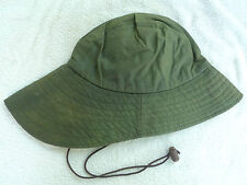 BARBOUR- D565 SOU'WESTER WAXED COTTON HAT- SAGE- MADE IN ENGLAND -SIZE  SMALL
