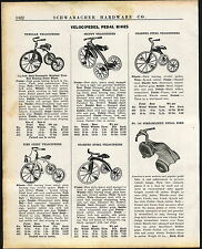 1936 AD Streamline Pedal Tricycle Skippy Velocipede Fire Chief Bell Rollfast