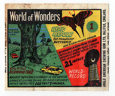 Anglo Wax Wrapper World of Wonders #1 General Sherman Redwood Tree Neck Rings