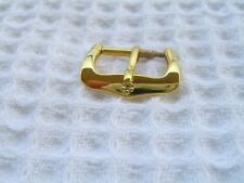 VINTAGE NOS 14MM ETERNA YELLOW GOLD PLATED WATCH BUCKLE                    #5640