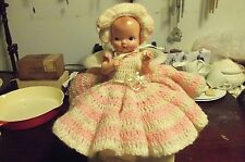 """Irwin  BABY DOLL 11"""" SIDE GLANCING JOINTED BENT LEGS- REAL NICE"""