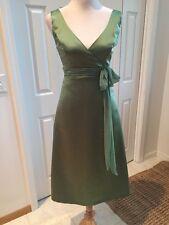 AFTER SIX SZ 6 CLOVER  Green V Neck Empire Waist  POLYESTER DRESS
