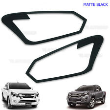 Front Matte Black Head Light Lamp Cover For Isuzu Holden D-max 4x2 4x4 2016 2017