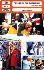 Fiche Cinéma. Movie Card. Y a-t-il un flic pour sauver la reine ? (USA) 1988