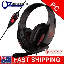 SADES ePOWER SA-707 Stereo PC Gaming Headset Headphones Microphone 3.5mm Plug