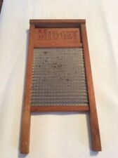Vintage WOODEN NATIONAL 442 Chicago IL MIDGET Scrub WASHBOARD Kitchen Decor