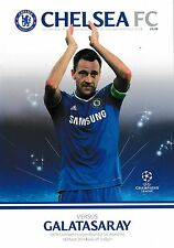 Football programme > chelsea v galatasaray mar 2014 ucl