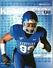 2008 Footall Program - Kentucky vs Middle Tennessee