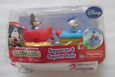 Fisher Price Disney Mickey Mouse & Donald Duck Clubhouse Squeeze & Squirt Pals