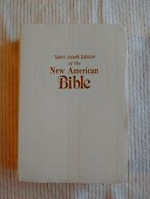 Saint Joseph Edition of the New American Bible Medium Size Faux White Leather