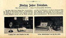 Fünfzig Jahre Telephon Berliner Hauptfernsprechamt Amt Amsterdam u. München 1911