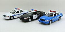 Kinsmart Set of 3 Ford Crown Victoria Police Interceptor 1:42  diecast model K40